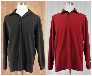 TIGER WOODS COLLECTION~Sz L~Lot of 2 Long Sleeve Nike Fit Dry Shirts~Black