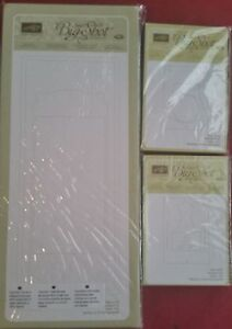 Stampin up POP N' CUTS CARD BASE DRESS FORM & LABEL DIE RETIRED NEW Ships Free