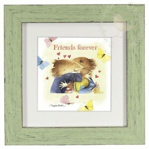 Marjolein Bastin Friends Forever 9quot; x 9quot; Framed Print Mint Green Frame