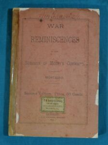 War Reminiscences by Surgeon of Mosby's Command Monteiro 1890 2nd Edition As Is