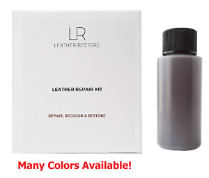 Leather & Vinyl Repair Kit & 1 oz Ready to Use Color Fix Car Couch Tear Restorer