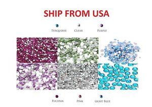 1200 PCS Rhinestone Crystal Flat Back Acrylic Faceted Gem Scrapbooking 4mm 5mm