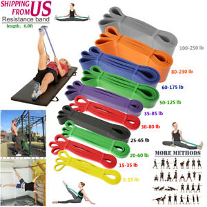 Powerlifting Exercise Pull Up Assist Bands For Resistance Body Stretching