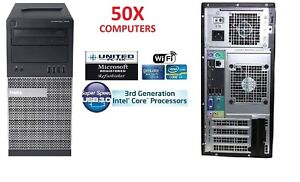 50x Dell Optiplex 7010 Tower Windows 710 Core i5 Quad up to 3.6 WiFi HDDSSD