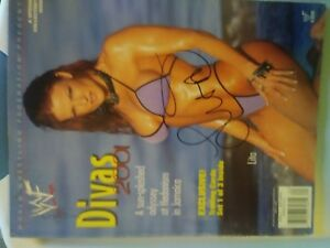 WWE DIVAS 2001 Swimsuit mag AUTOGRAPHED by LITA Great Condition $30.00
