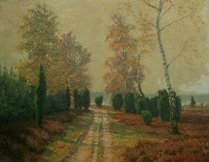 RICHARD DE BRUYCKER - 'Autumn Morning' - Oil Painting on Panel - Germany - 1948