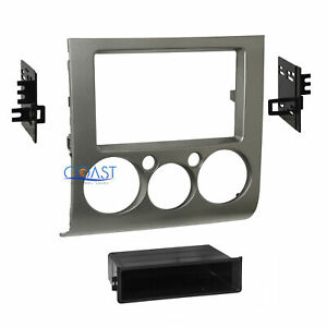 Car Radio Stereo Din 2Din Silver Black Dash Kit for 2004 2012 Mitsubishi Galant