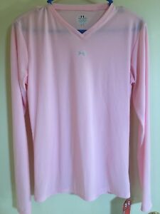 Under Armour Women's Pink CottonDry Fit Long Sleeve T-Shirt Size XL NWT
