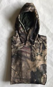 NWT Youth Boys Under Armour 1286119 Logo Camo Hoodie Mossy Oak Open Country XL