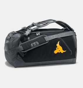 Under Armour Project Rock Delta UA Contain Duo+ Backpack Duffle Bag The Rock