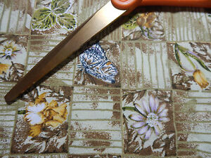 BOTANICAL #1591 FLOWER HERBS BUTTERFLY SQUARE FABRIC SEWING RAG QUILT LAST 2 $5.88