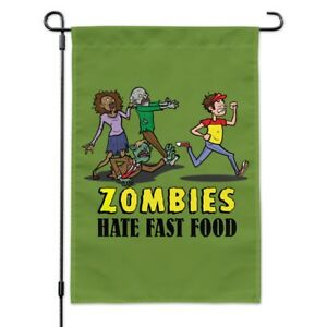 Zombies Hate Fast Food Funny Garden Yard Flag