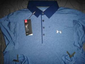 UNDER ARMOUR GOLF CASHMERE POLO SHIRT SIZE XL MEN NWT $89.99