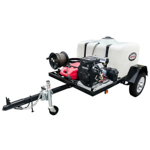 Simpson Professional 4200 PSI (Gas - Cold Water) Pressure Washer Trailer w V...