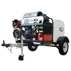 Simpson Professional 4000 PSI (Gas-Hot Water) Pressure Washer Trailer w Vang...