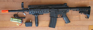 Full Metal Body amp; Gearbox M4S Airsoft Electric Gun System BB up to 400 FPS $139.95
