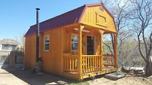 SUPER CUTE shed LITTLE BARN STYLE 10' FT X 20' FT WOOD CABIN WITH PORCH