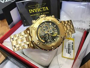 14470 Invicta Subaqua Specialty Swiss Quartz 52mm SS Case Chrono Bracelet Watch