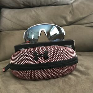 Under Armour Changeup Satin White Baseball Tuned Sunglasses