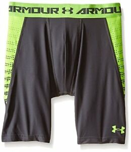 Under Armour Boys' HeatGear Armour Up Fitted Shorts – Long Graphite (041)Fuel