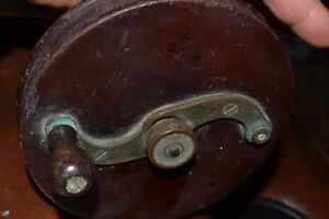 VINTAGE 1886 G. RITTER NEW YORK FISHING  REEL BRASS AND WOOD 6