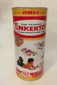 TINKERTOY Construction Set Real Wood Pieces PLAYSKOOL 2005 HASBRO