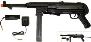 German MP40 Style Metal Gearbox Auto Electric Airsoft Gun 350 FPS Black $139.00