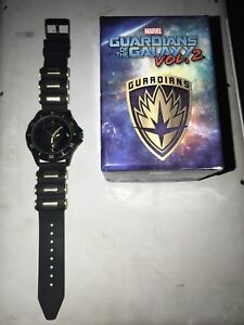 Marvel Comics Movie Guardians Of The Galaxy 2 Shield Silicone Bullet Band Watch