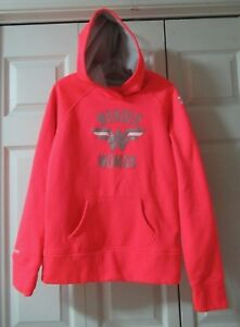 Under Armour  Storm  Girls  Size  L  Wonder Woman  Logo Salmon Neon Pink  Hoodie