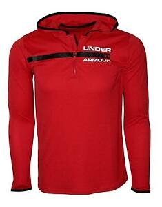Under Armour Big Boys 8 18 Athletic Zip Hooded Light Shirt Hoodie Size S $39.95
