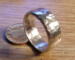 STERLING SILVER MENS HAMMERED SILVER RING BAND SIZES  8-15 10 Grams