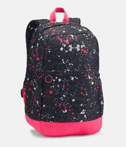 Under Armour Favorite Girls Backpack Storm BlackPink Water Resistant Brand NEW