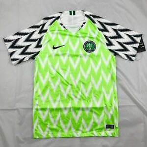 Nike 2018 World Cup Nigeria Home Soccer Jersey White Green 893886-100 Men s  S-L b59ed561a