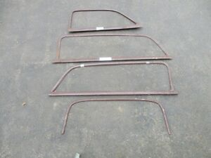 1949-50-51 FORD + MERC. WOODIE INSIDE WINDOW MOLDINGS -MISSING FRONT RIGHT SIDE