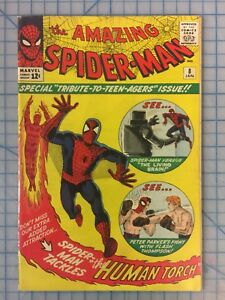 Amazing Spider-man #8 FN 6.0 Lee Ditko Classic Byah!