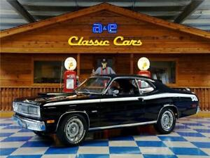 Duster Period Correct 340 Cui  4 Speed Manual 1972 Plymouth Duster – Black  White