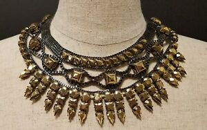 BCBG MAX AZRIA  DROP STONE STATEMENT  NECKLACE