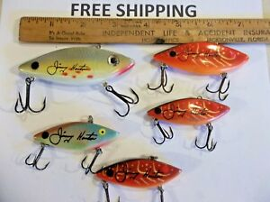 Lot of 5 Cordell CC Excalibur Spot Autograph Jimmy Houston LIPLESS Lures NICE