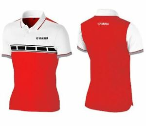 YAMAHA WOMEN'S POLO SHIRT REDWHITE DRI-FIT SIZE 10 #YTF-17PLS-LD-10