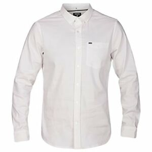 Hurley MVS0003620 Men's Dri-Fit One and Only Long Sleeve Shirt White