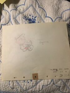 1940 RARE WALT DISNEY PINOCCHIO (cel?)ORIGINAL PRODUCTION ANIMATION DRAWING $197.00