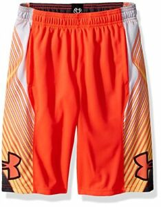 Under Armour Boys' Space The Floor Nov Shorts Neon Coral (985)Neon Coral
