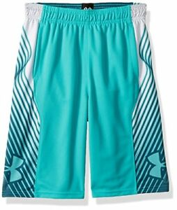 Under Armour Boys' Space The Floor Nov Shorts Teal Punch (594)Teal Punch
