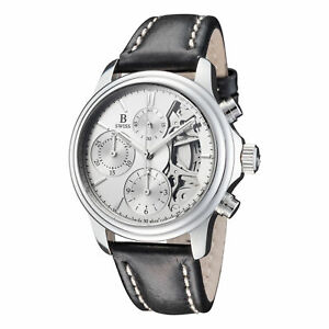 B Swiss by Bucherer Men's Prestige Chrono 38mm Automatic Watch 00.50506.08.13.01