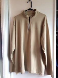 Under Armour Tactical Quarter Zip Loose Fit Khaki Top Pullover Shirt Size 2XL