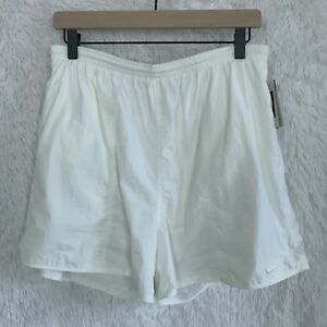 Nike Nikelon Mens Ivory XL Running Shorts Built In Liner Athletic 90s Vintage