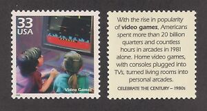 1980's HOME TV VIDEO GAMES - SPACE INVADERS - U.S. POSTAGE STAMP -MINT CONDITION