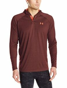 Under Armour Men's Tech Popover Hoodie Black (002)Rocket Red