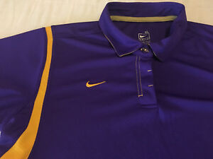 Youth Girls Clean XL Extra Large Nike Fit Dry Purple Casual Polo Shirt