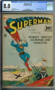 SUPERMAN #7 CGC 8.0 CROW PAGES